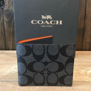 NWT Authentic Coach Signature Colorblock Wallet